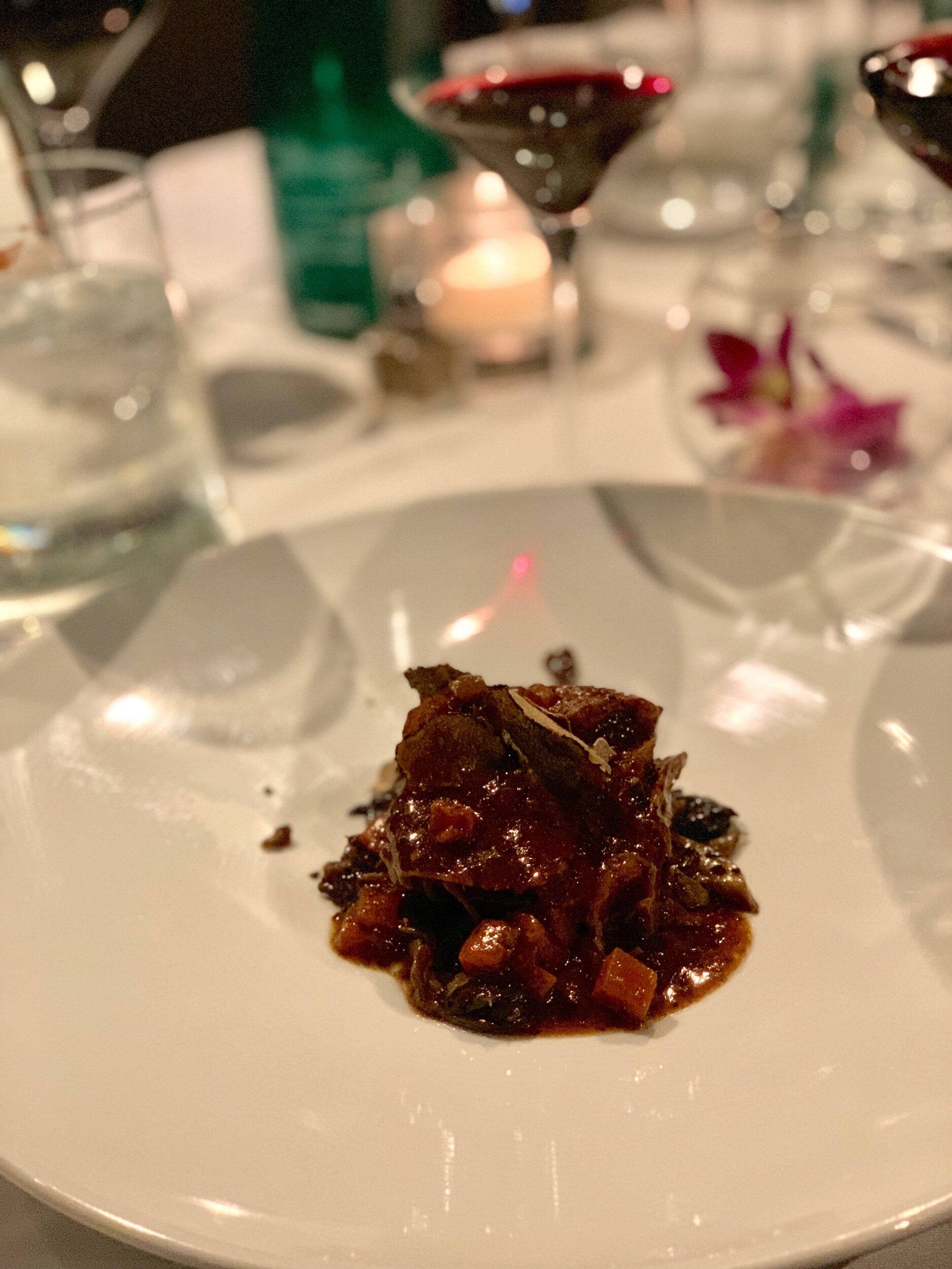 Chef Tony Priolo's braised short rib was perfect with the Brunello di Montalcino