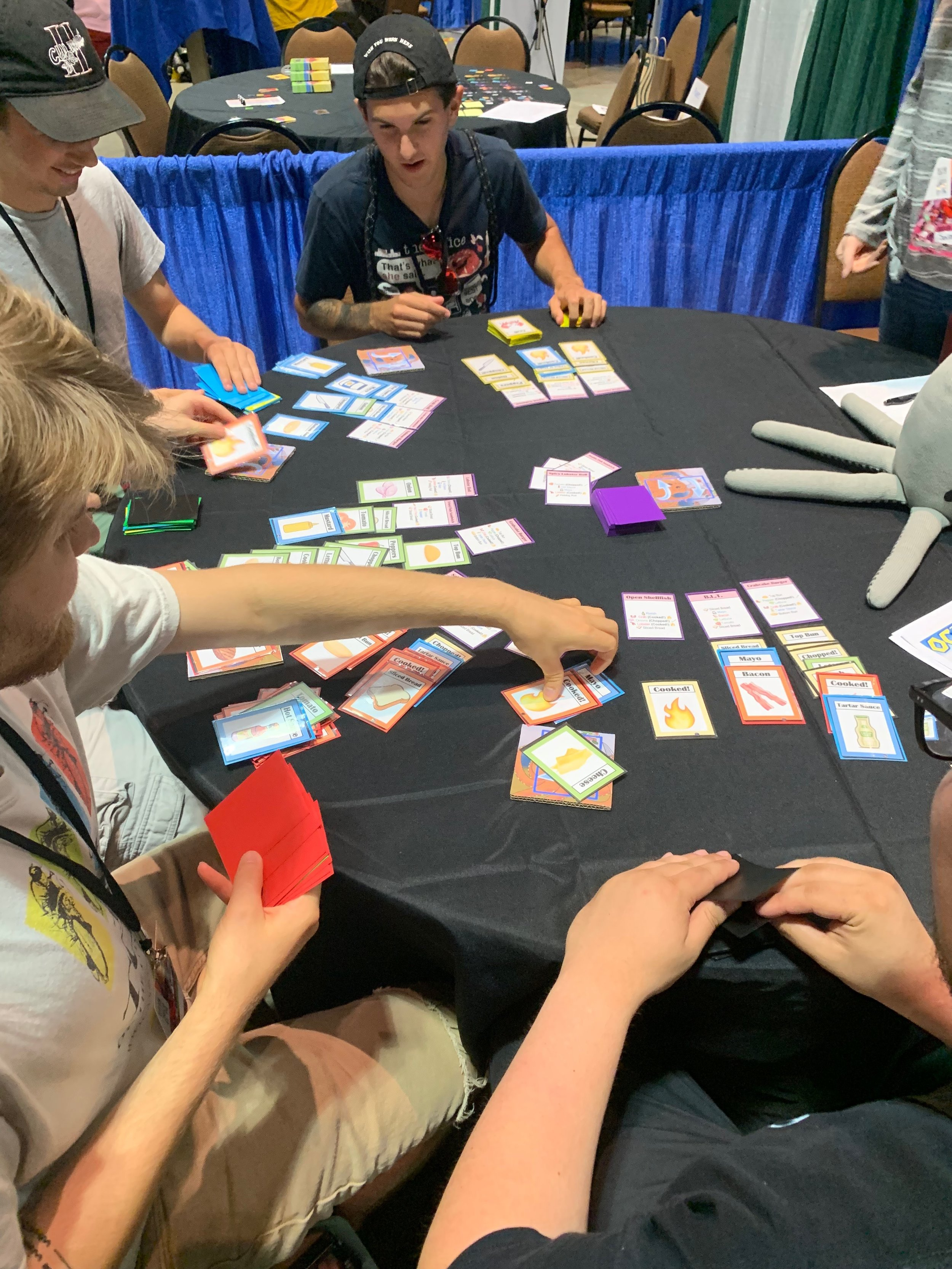 Lots of cards moving around in this game!