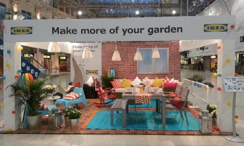 An IKEA pop-up garden in Waterloo train station, London.Credit:  Retail Safari