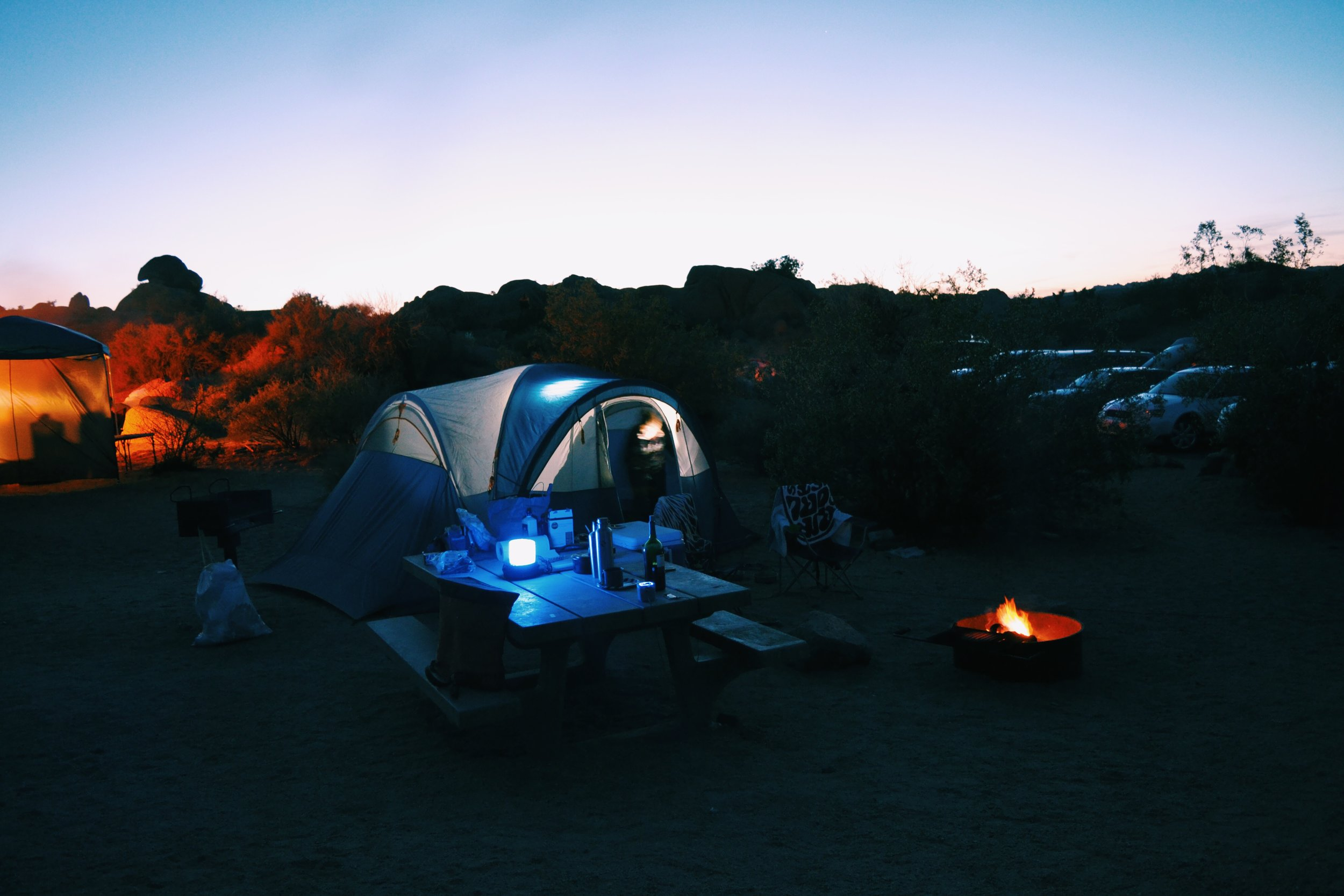night-time-camping-tent