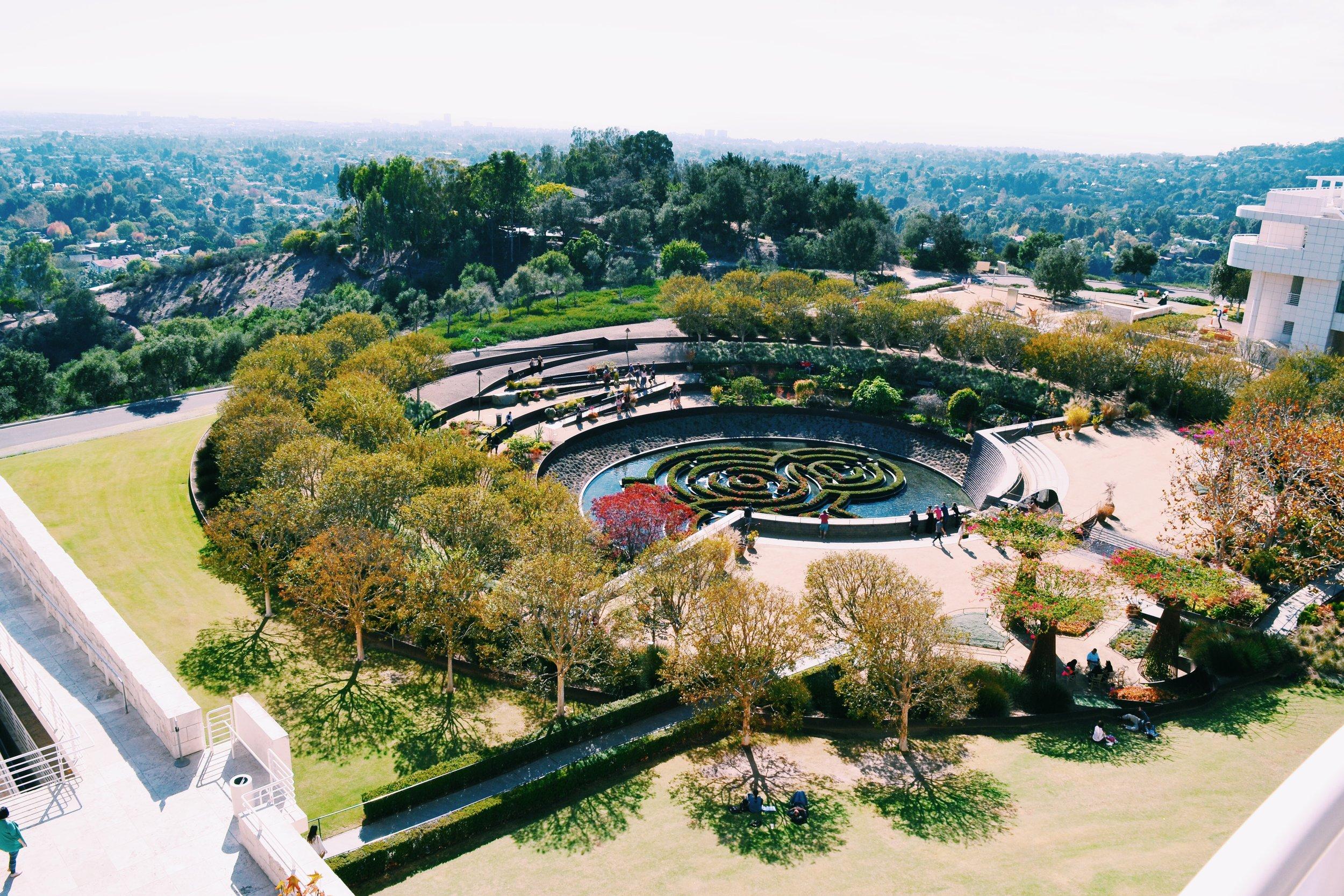 central-garden-getty-center