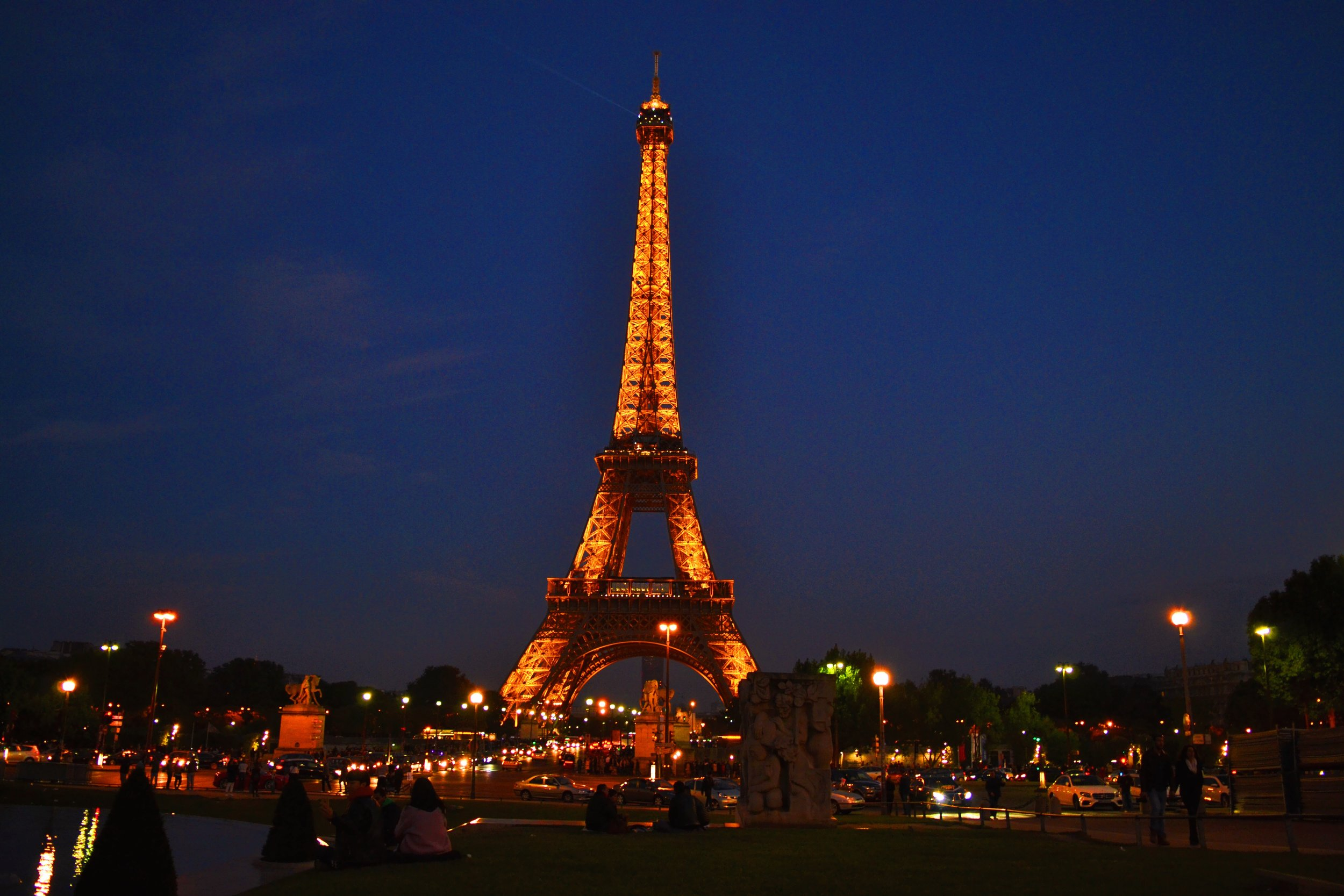 view of eiffel tower at from trocadero