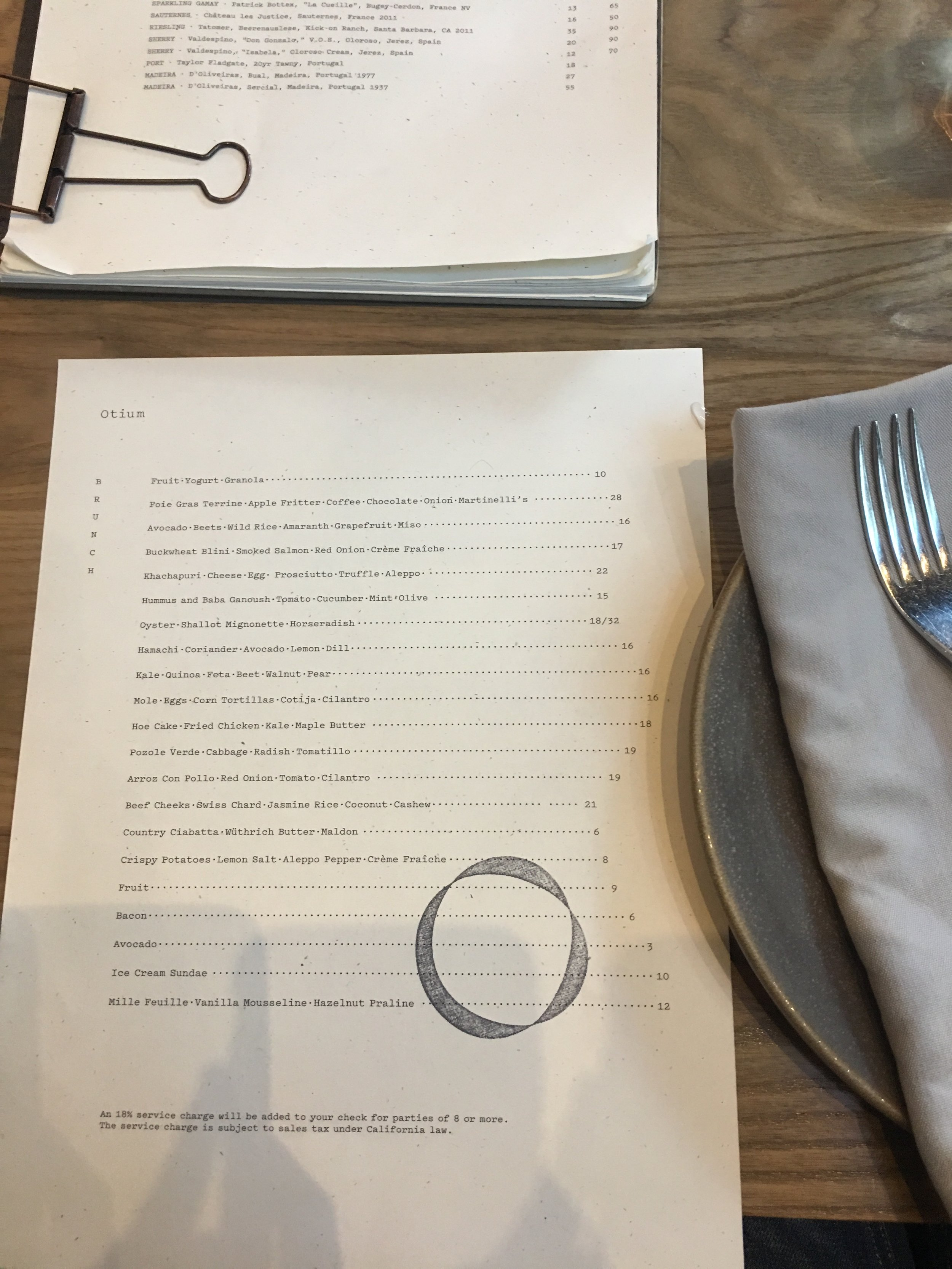 menu-otium-los-angeles