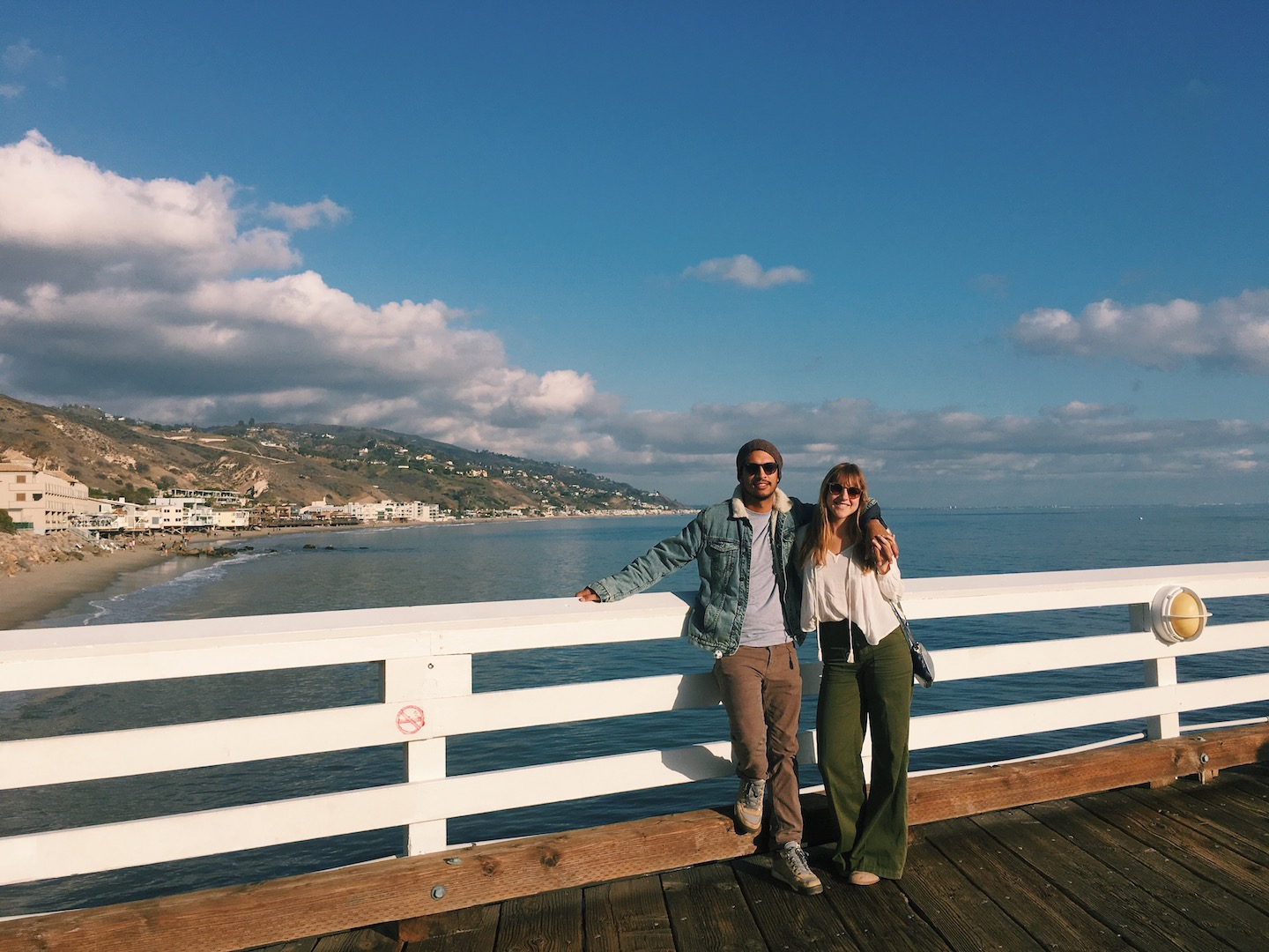 New Years Day spent enjoying the weather in Malibu