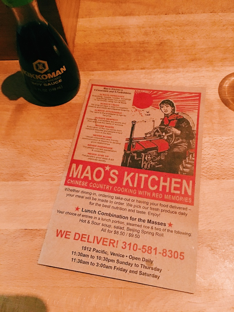 Finally tried Mao's Kitchen in Venice!