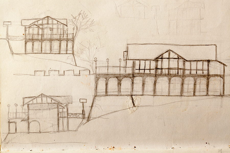 First sketches of Antipolo Beehouse, 2012