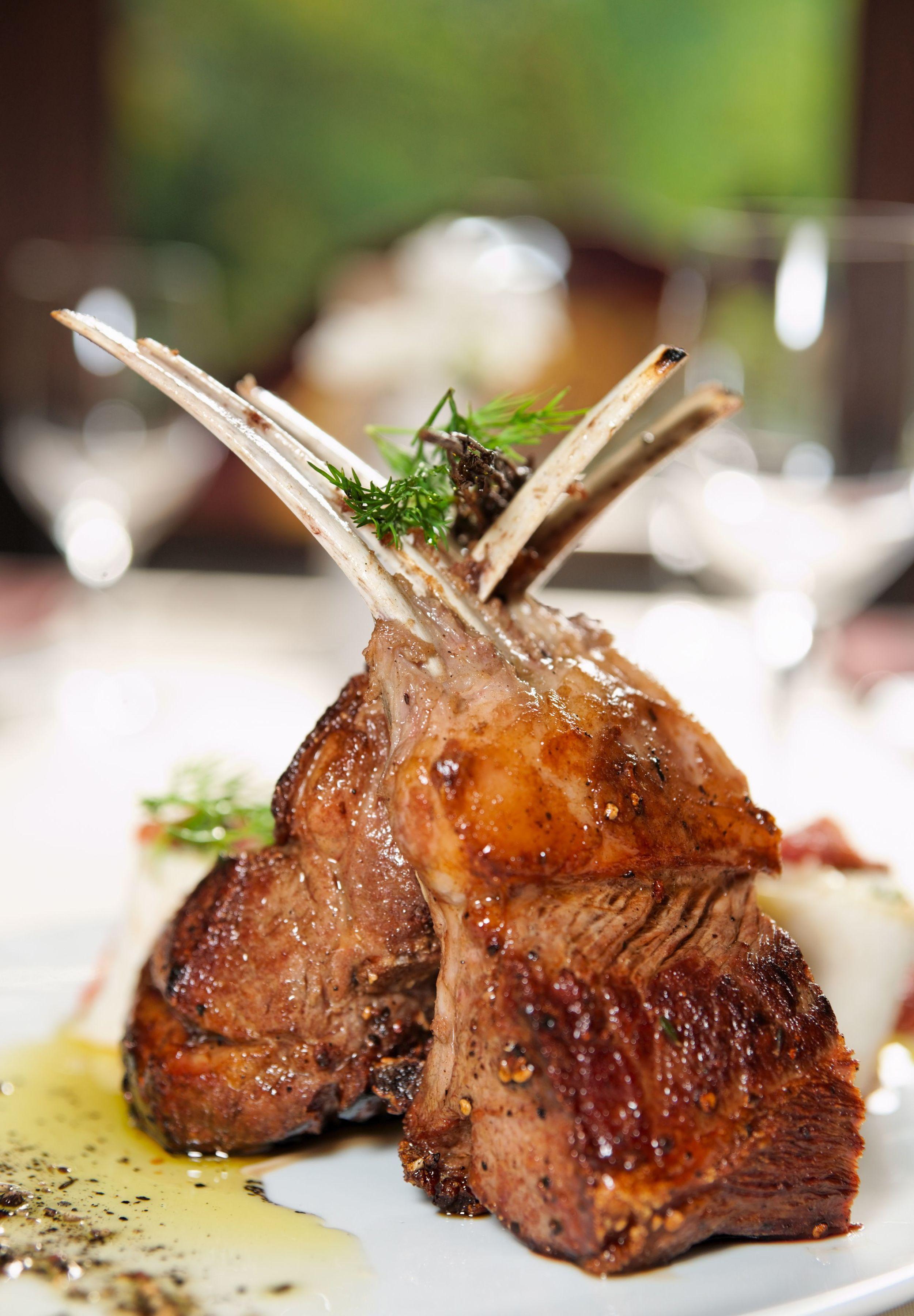 Balsamic and Pecan Crusted Rack of Lamb