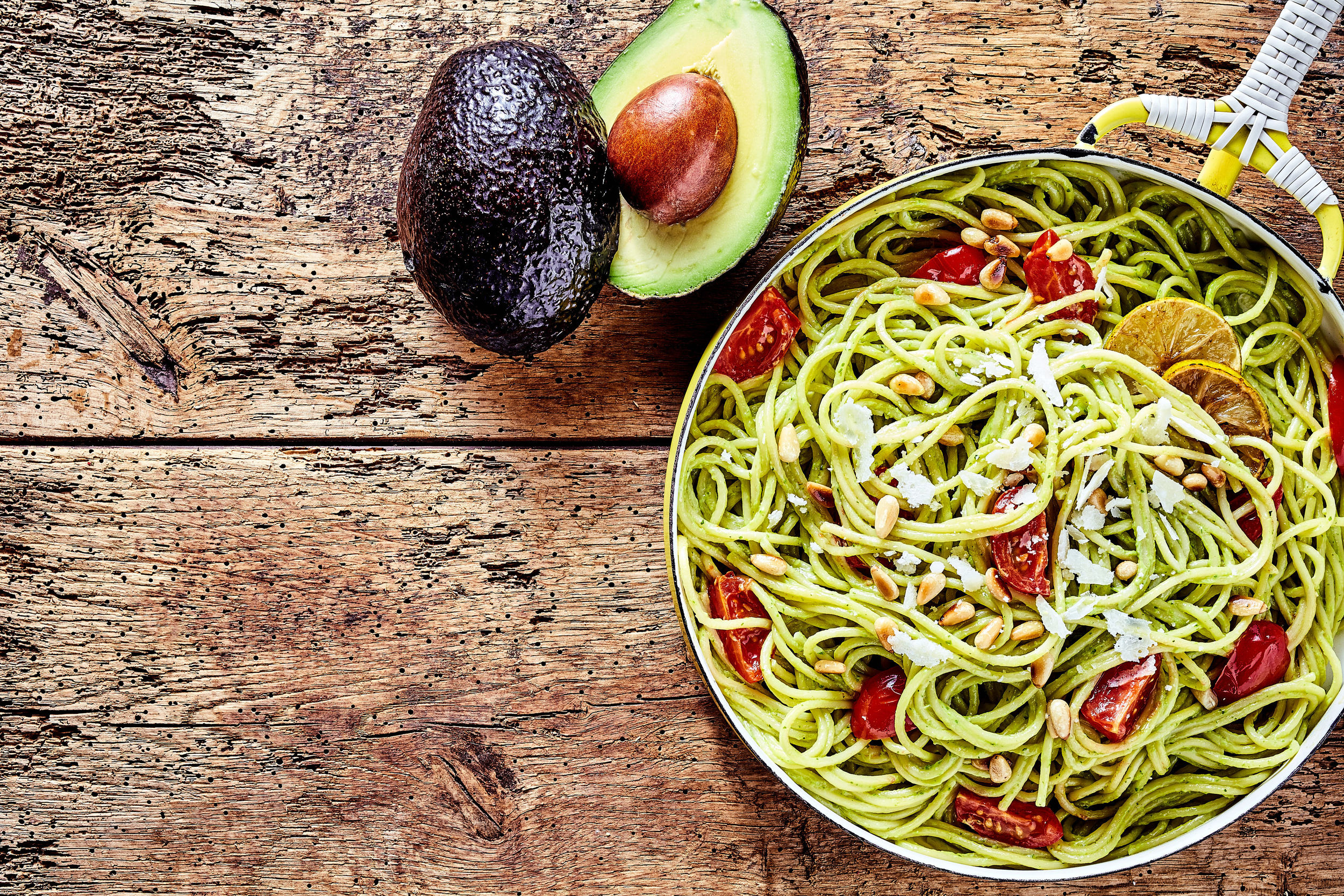 Zucchini Pasta with Avocado Sauce