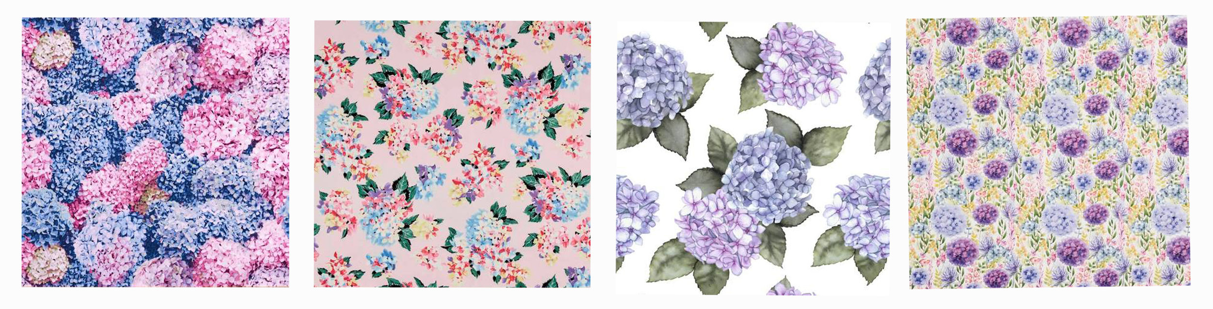 Hydrangea fabric available from Spotlight