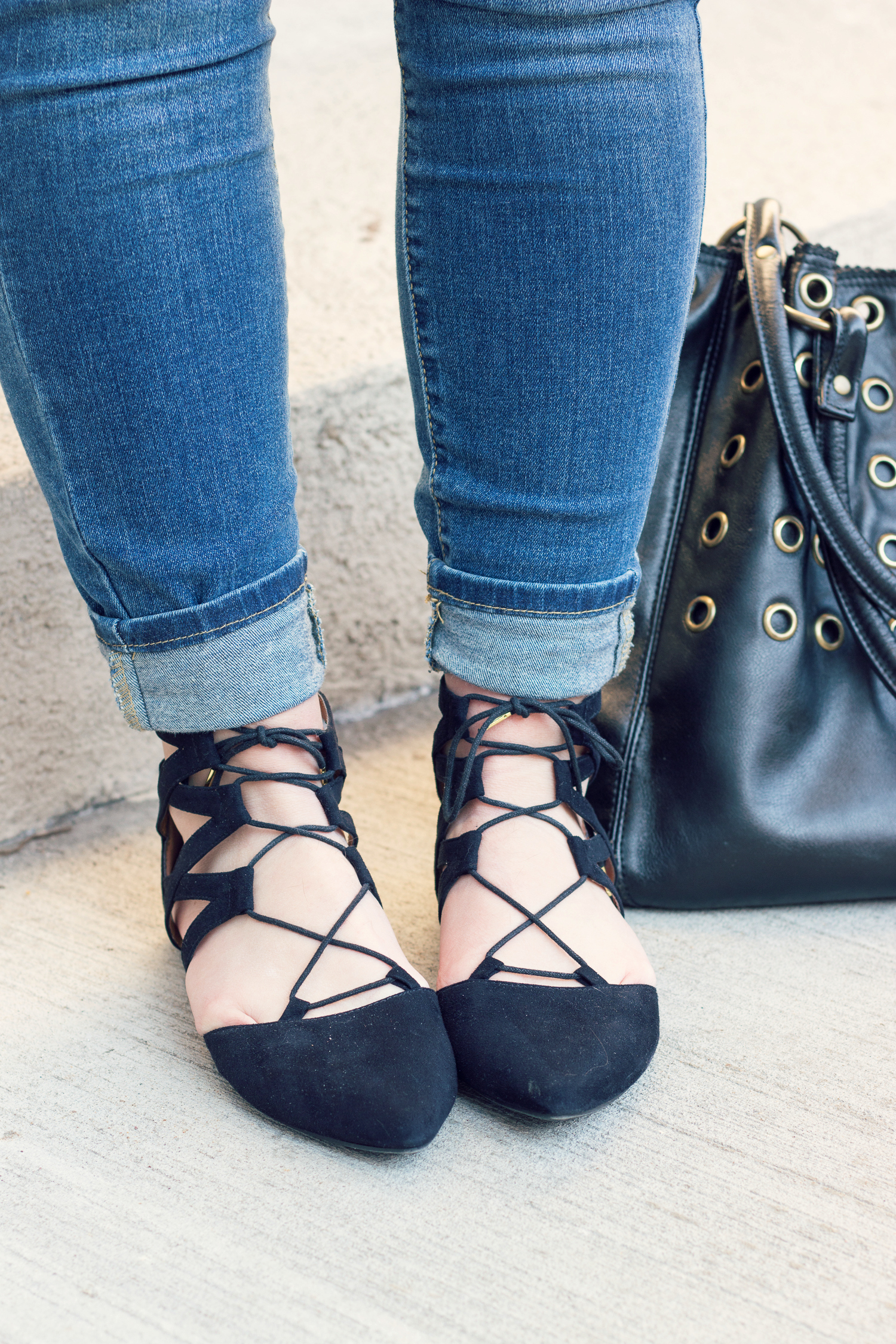Inexpensive Lace Up Flats