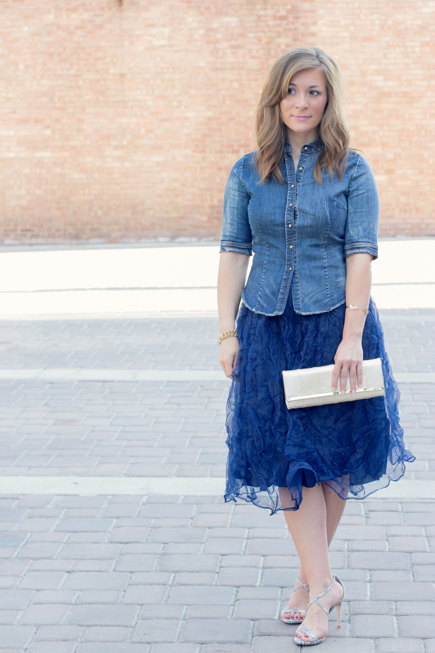 Cute Tulle and Denim Outfit