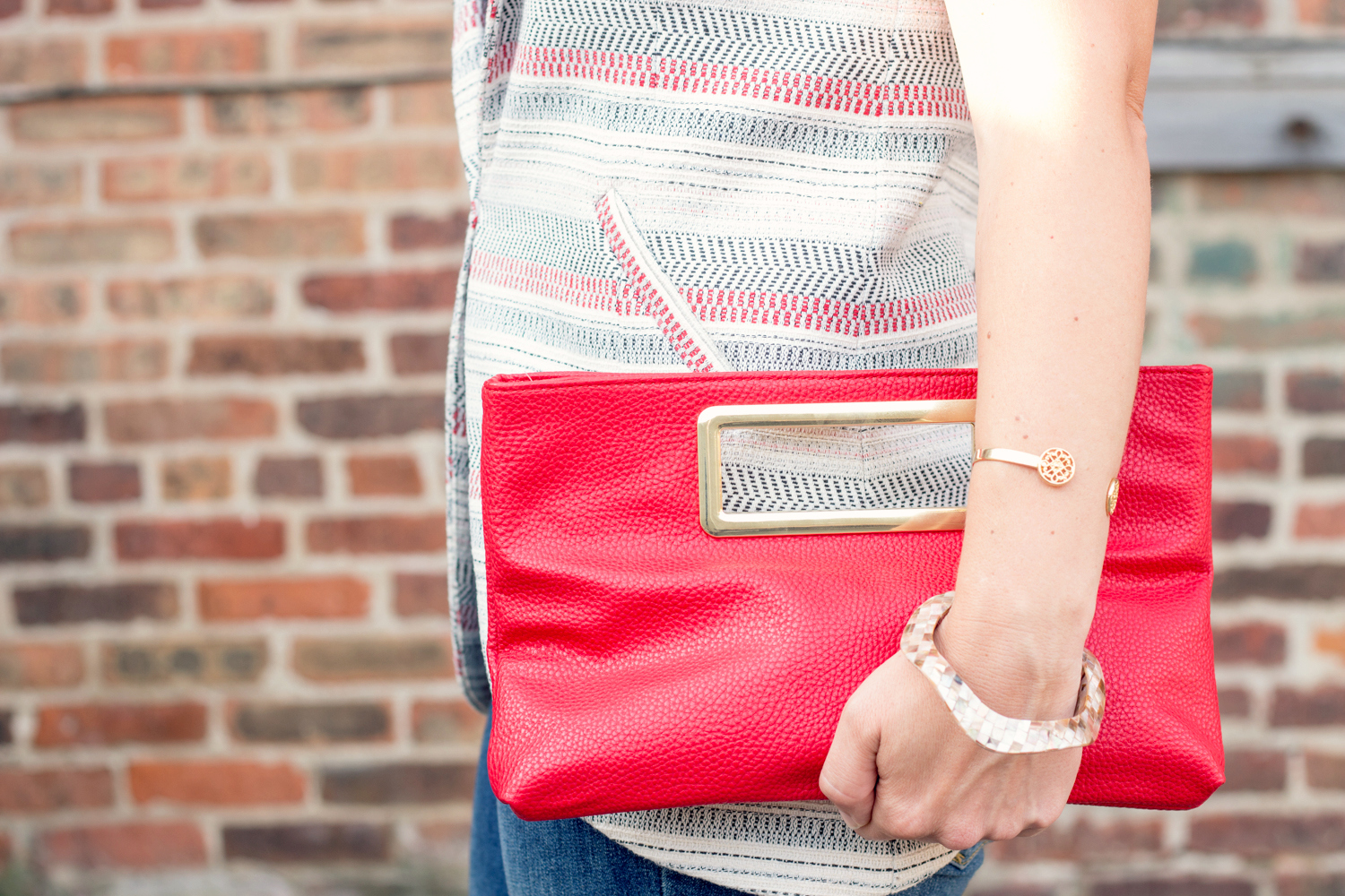 Red And Gold Clutch