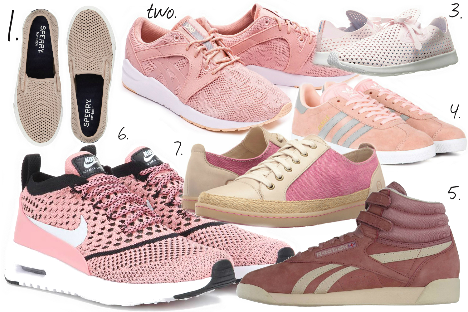 Cute Pink Sneakers and Shoes