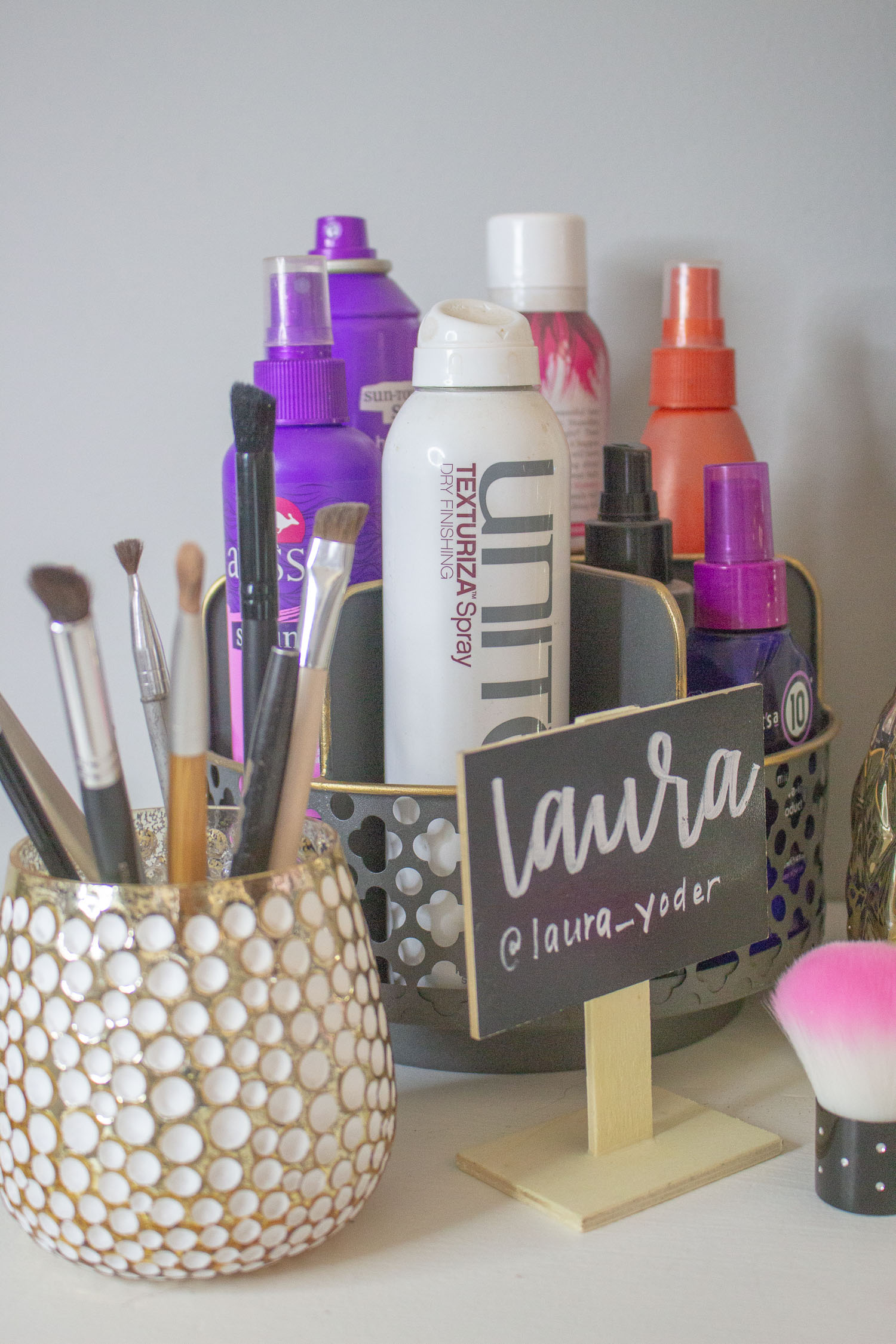 My New Favorite: The Best Way to Organize my Hair Product