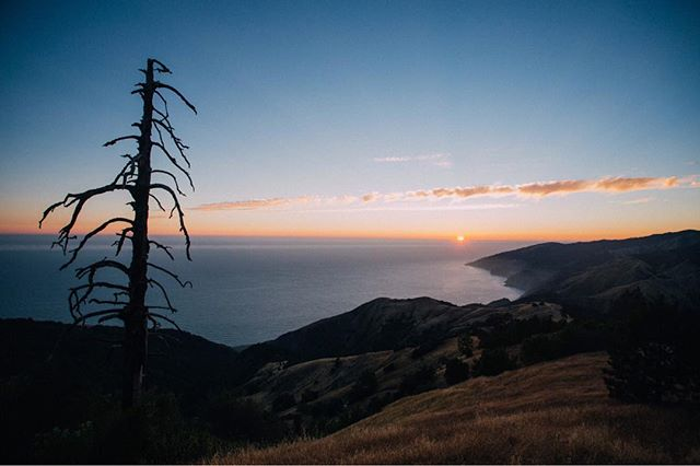 Taking it all in while the sun sets over Big Sur.