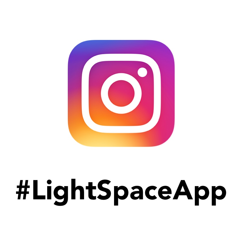 Instagram search for Lightspace app
