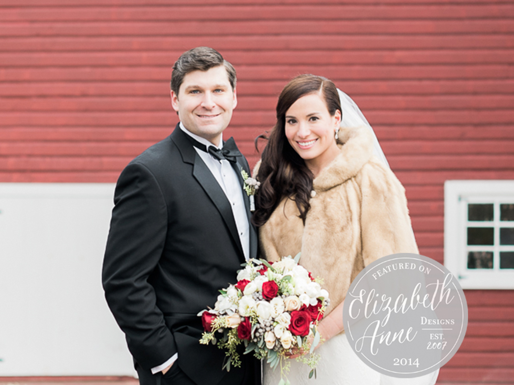 ELIZABETH ANNE DESIGNS:  NEW JERSEY WINTER WEDDING