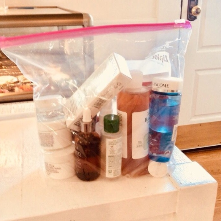 bring in all the products you use on your face - include soaps and shampoo/conditioner