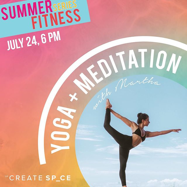 in need of some zen? join us @lacreatespace for a special yoga and meditation class taught by our founder @martha_kirby ❊ register at lacreatespace.com