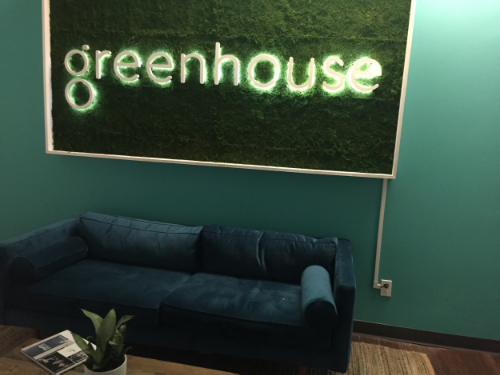The event was hosted at Greenhouse.io, a recruitment startup.