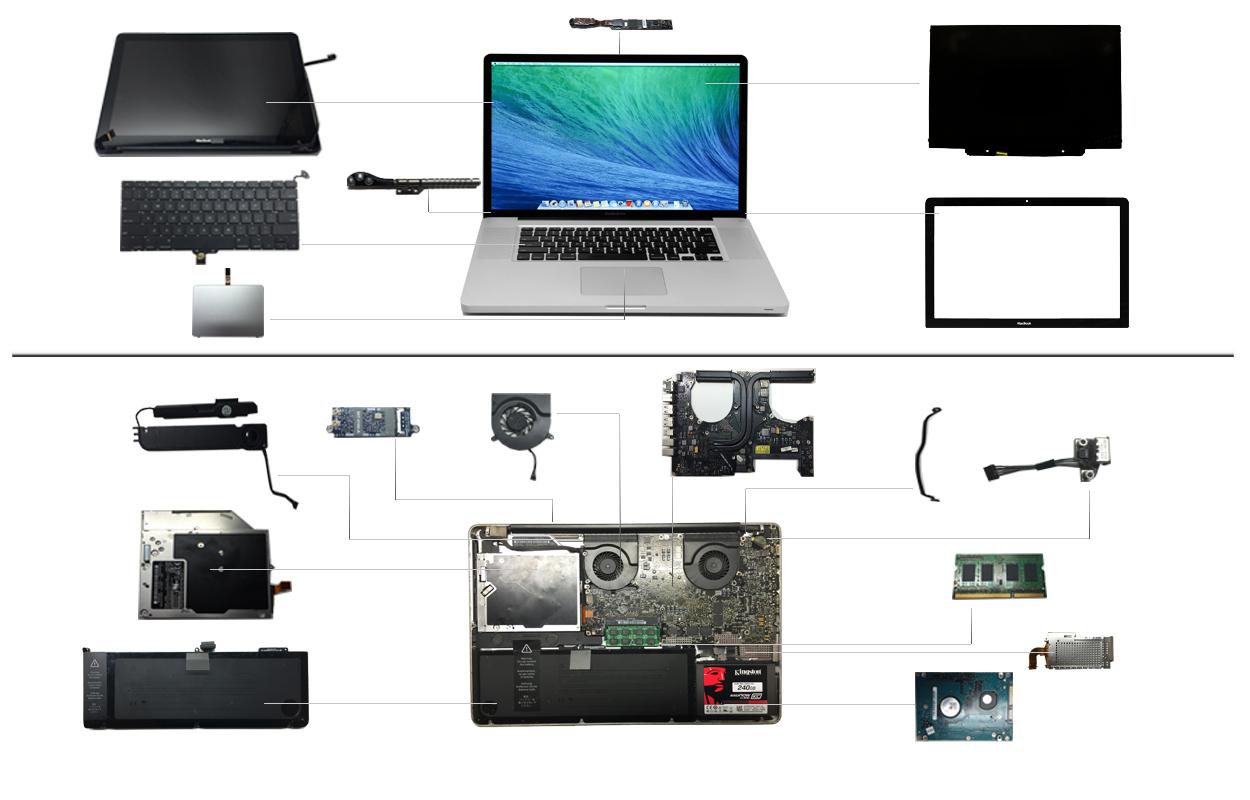 """17"""" Macbook Pro 2010 (A1297)"""