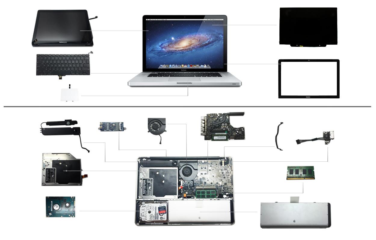 """13"""" Macbook Silver Unibody 2008 (A1278)"""