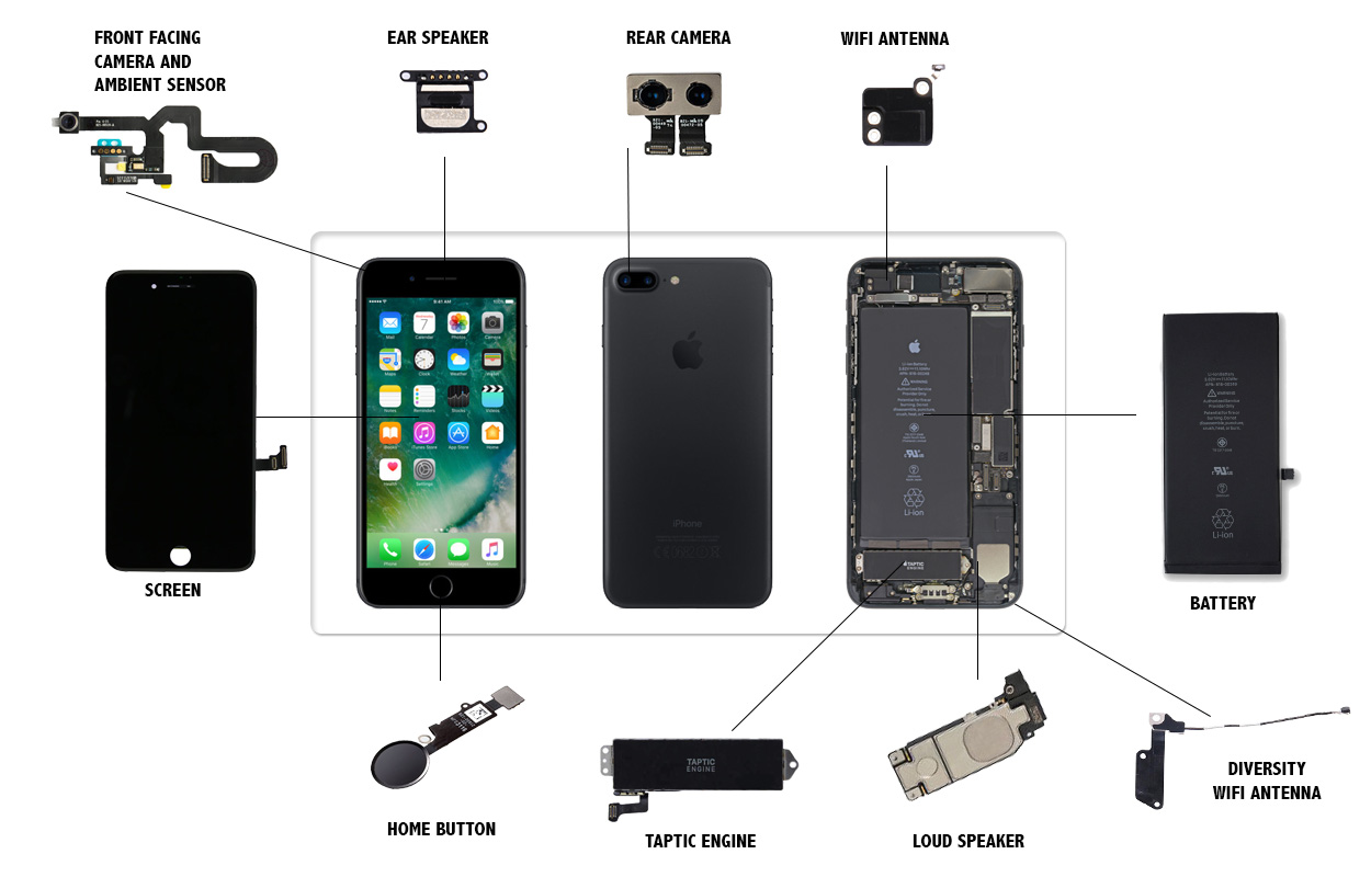 iPhone 7 Plus Parts Replacement Videos