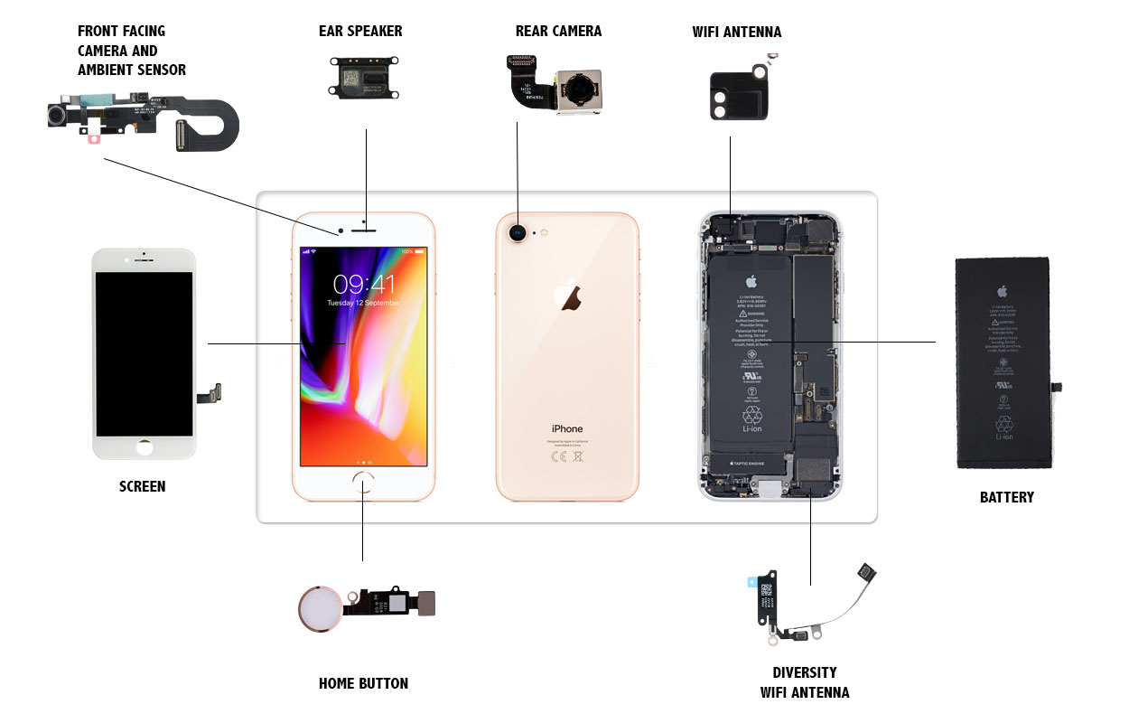 iPhone 8 Parts Replacement Videos