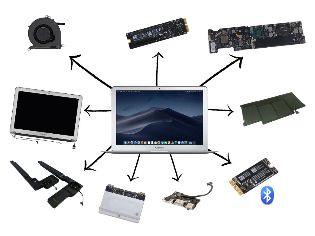 """Macbook Air 13"""" (A1466) 2012-2017"""