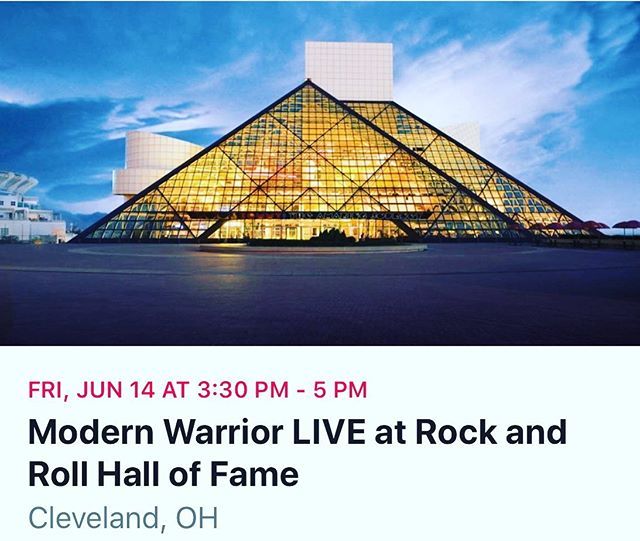MWL debuts at the legendary Rock & Roll Hall of Fame in Cleveland this Friday, June 14th! This performance is presented by the United States Army, Northeast Ohio Foundation for Patriotism (NEOPAT) & The Rock Hall. Tickets are FREE to the public, but you must reserve in advance. Click link in profile for tickets!