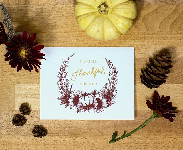 A little late for thanksgiving...but it's never to late to tell the people you love you're thankful for them, right? 😁🍂❤️ This card is now available in my shop at kylaraedesign.com (ps there are a few Christmas cards too! 🌲)
