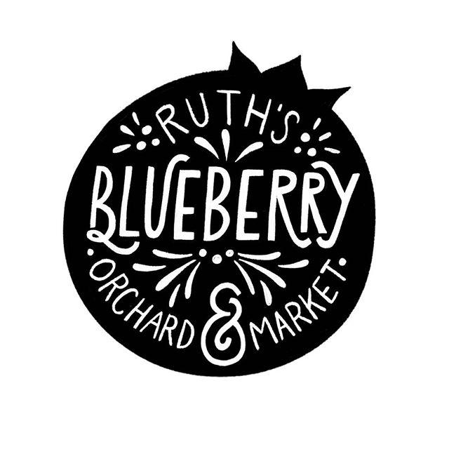 A little typography on a sleepy Sunday  #typogaphy #type #typedesign #design #illustration #instaart #graphicdesign #visualcommunication #visualdesign #designer #designers #blueberry #farm #market #portland #portlanddesigner #orchard