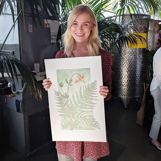 Had a great time at the @wcp_solutions Portland Paper Party. I had the pleasure of creating an illustration, in partnership with @reedcreative for @domtar_paper. Loved meeting everyone and checking out all the paper samples!  #paper #illustration #design #portland #art #artwork #botanical #botanicalillustration #fern #columbine #columbiarivergorge