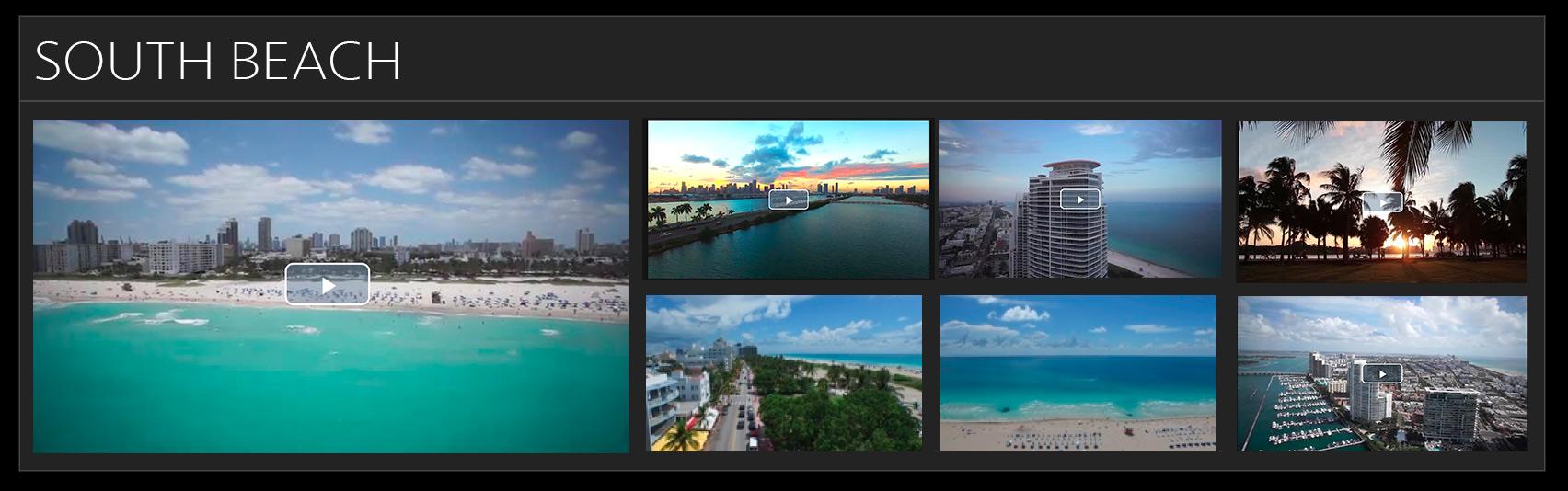 south beach stock footage