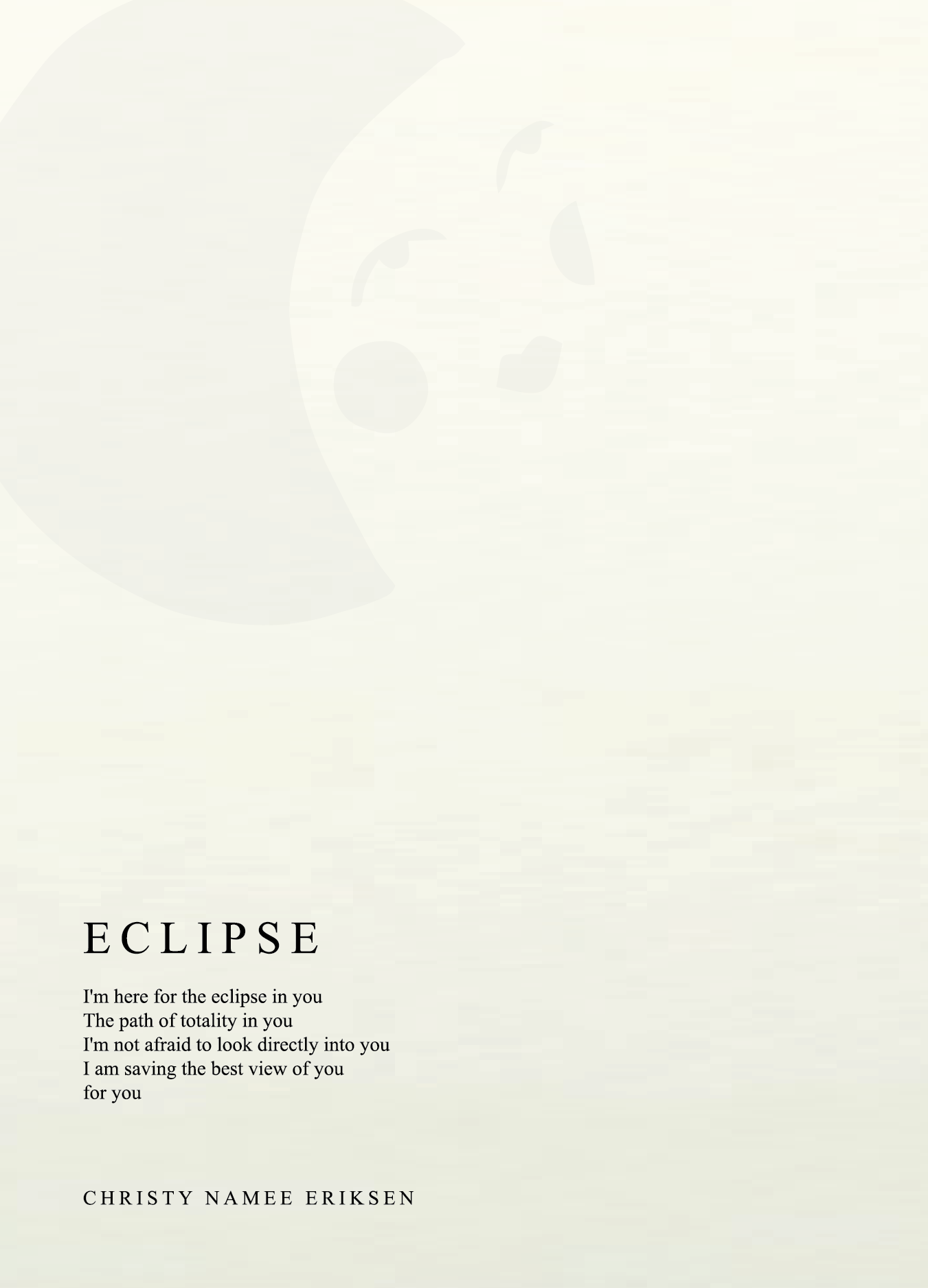 Eclipse (letterpress poem + pin)