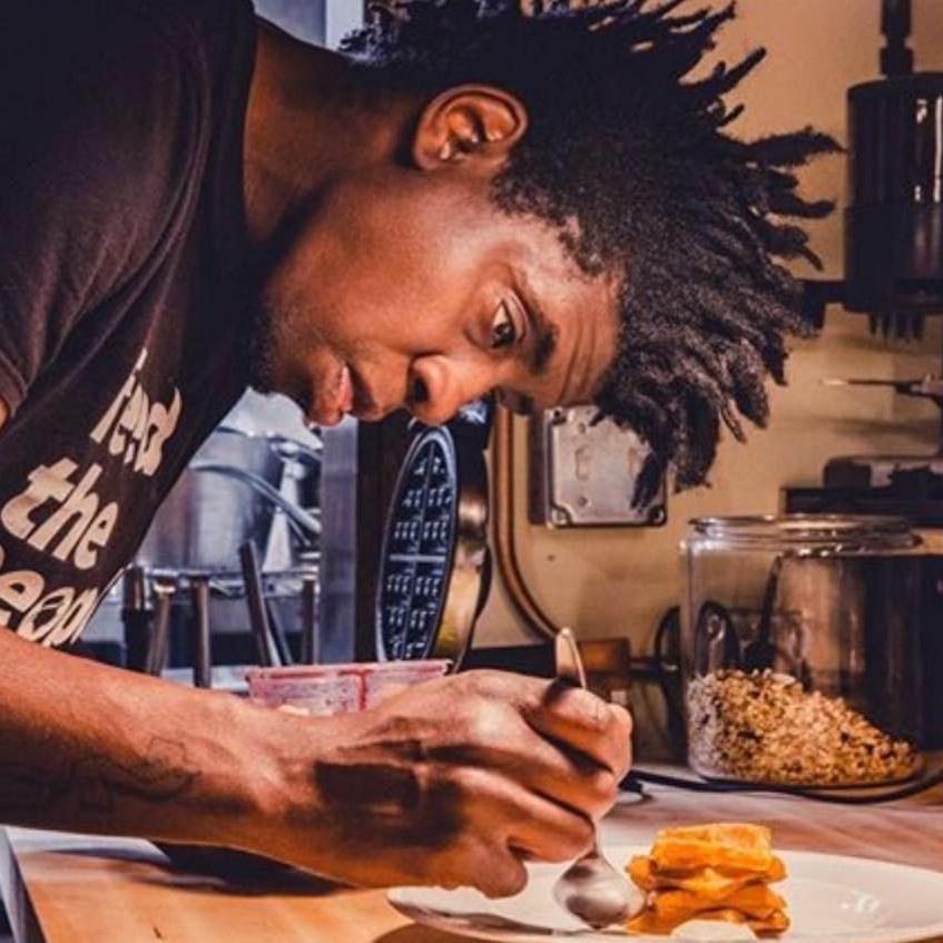 "A DJ & A Cook - Chef Tarik AbdullahDinner Pop-Ups crafted Around Mediterranean & Caribbean Cuisine - dubbed ""A culinary musical experience."""
