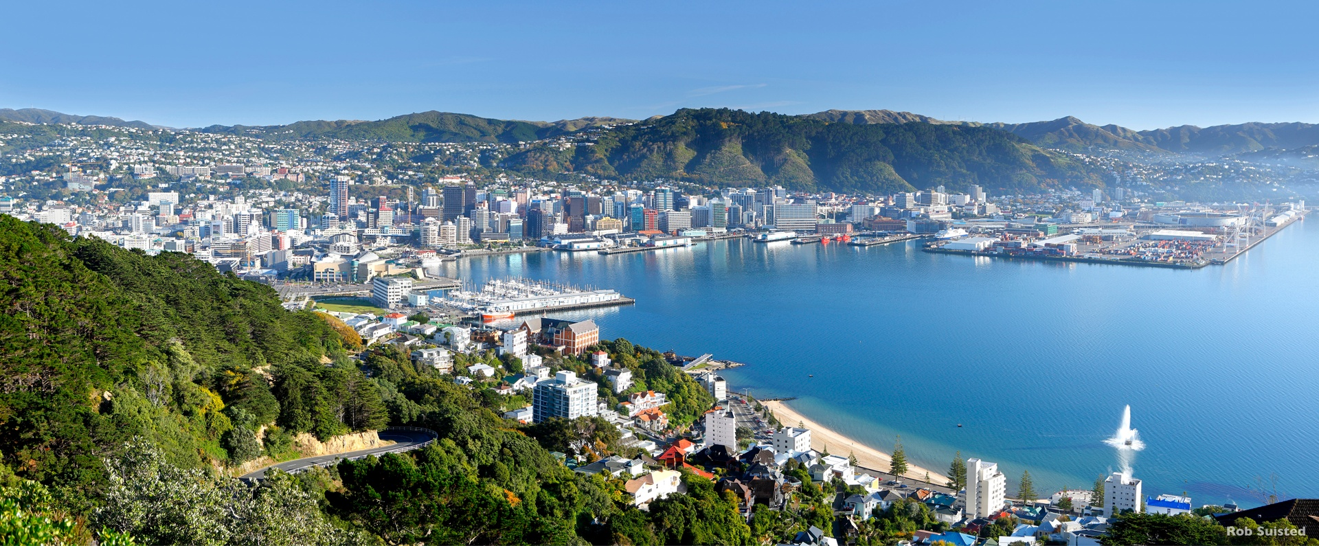 View from Tangi te Keo Mount Victoria, Wellington
