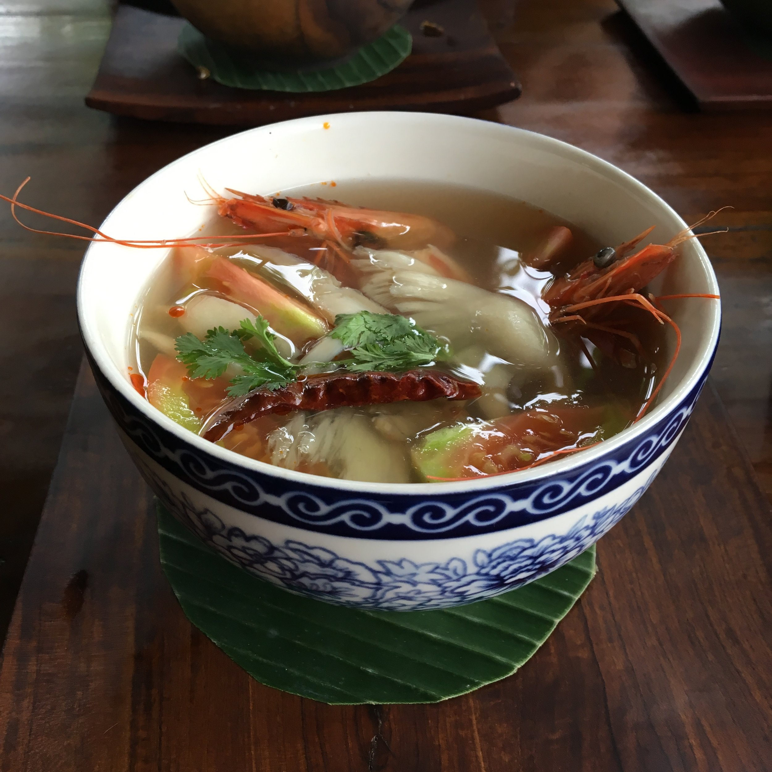 The most beautiful Tom-Yum soup I've ever seen.