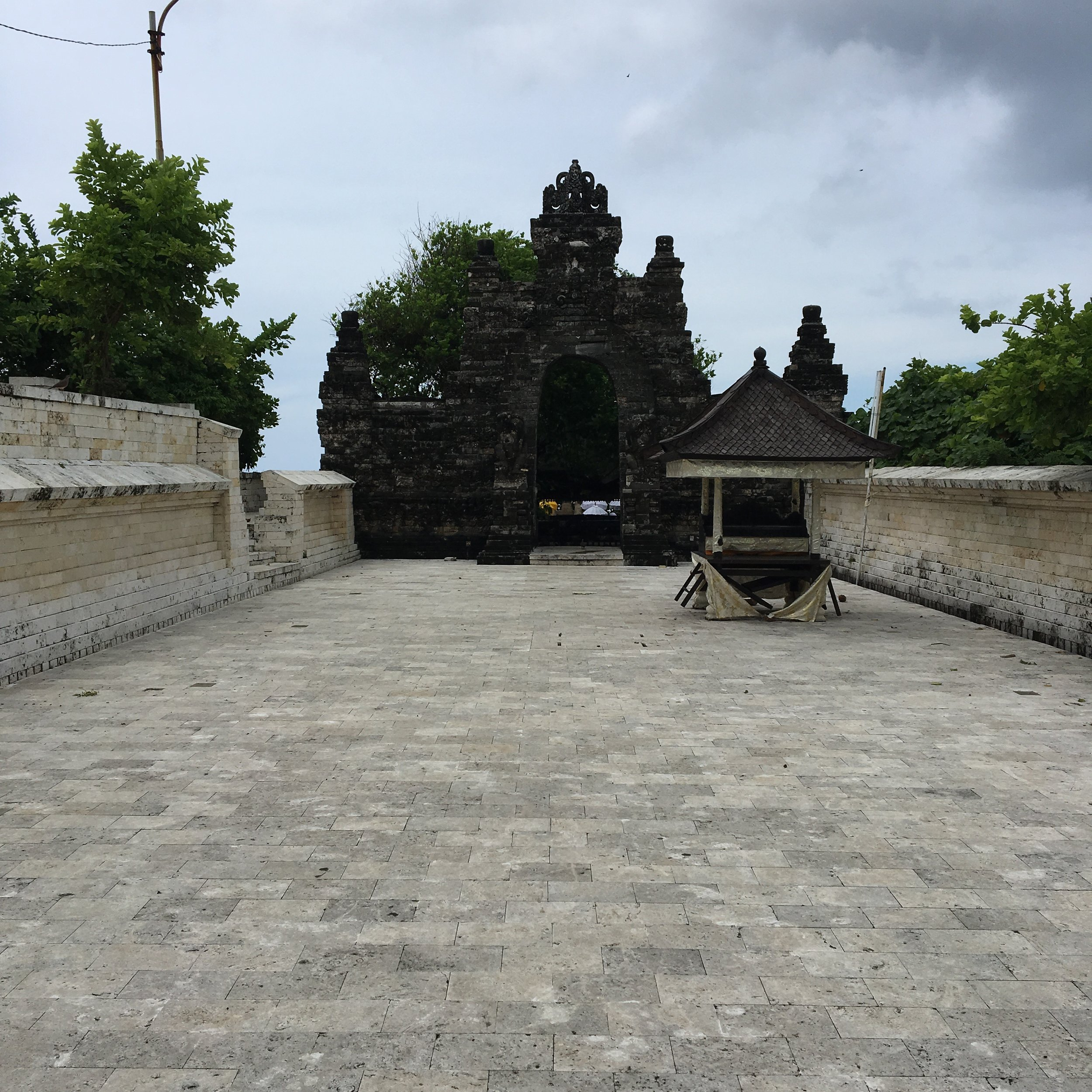 This is the courtyard that led to the shrine. I did not take pictures of the shrine because it felt too sacred.