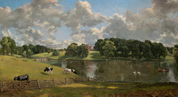 John Constable, wivenhoe park, 1816, showing wood's design. nag.