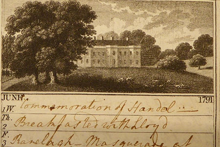 Example Wyddial Hall, Herts, showing use as a diary.