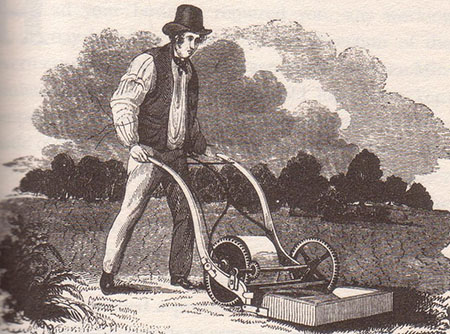 the rotary lawnmower was patented by Edwin Budding in 1830