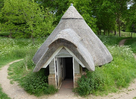 Restored Ice House at Grey's Court, Oxfordshire.