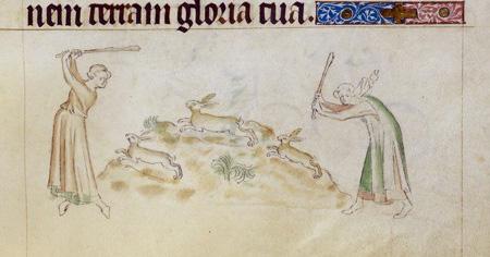 The Kill, Queen Mary's Psalter f.155v, BL.