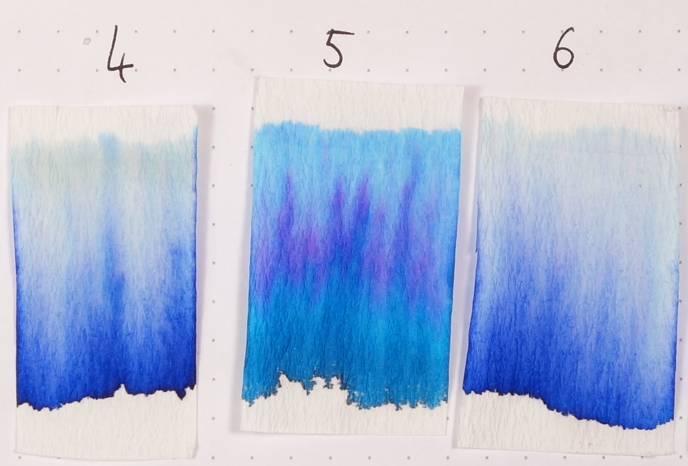 Numbers Match Tomoe River Swatches