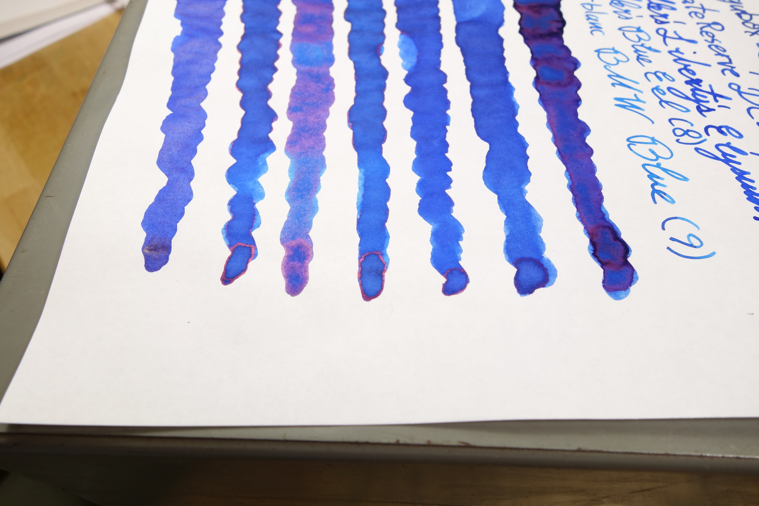 Sheen on Tomoe River (Swatches)