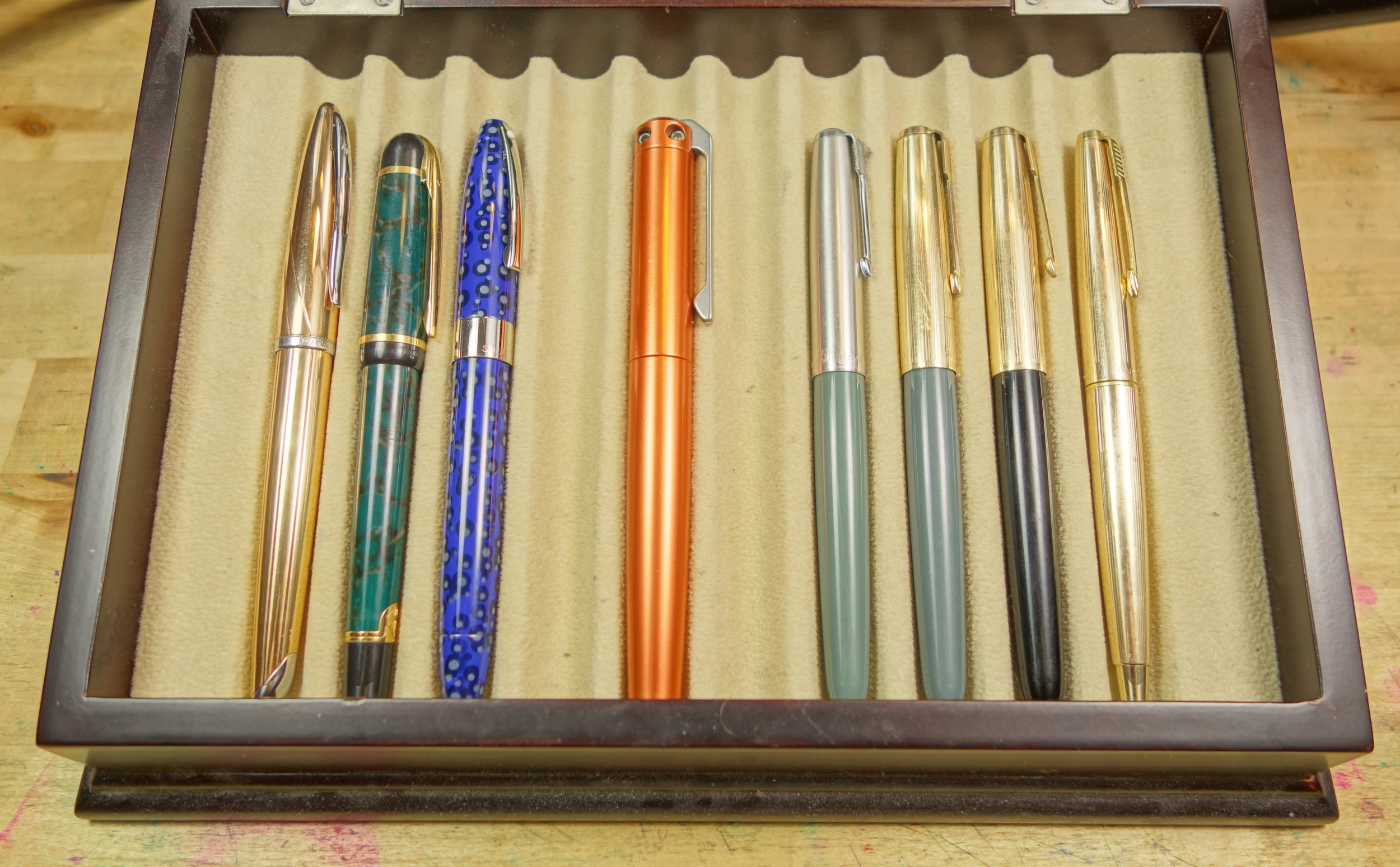 2/3 Waterman, Shaeffer, Karas Kustoms, and Parker