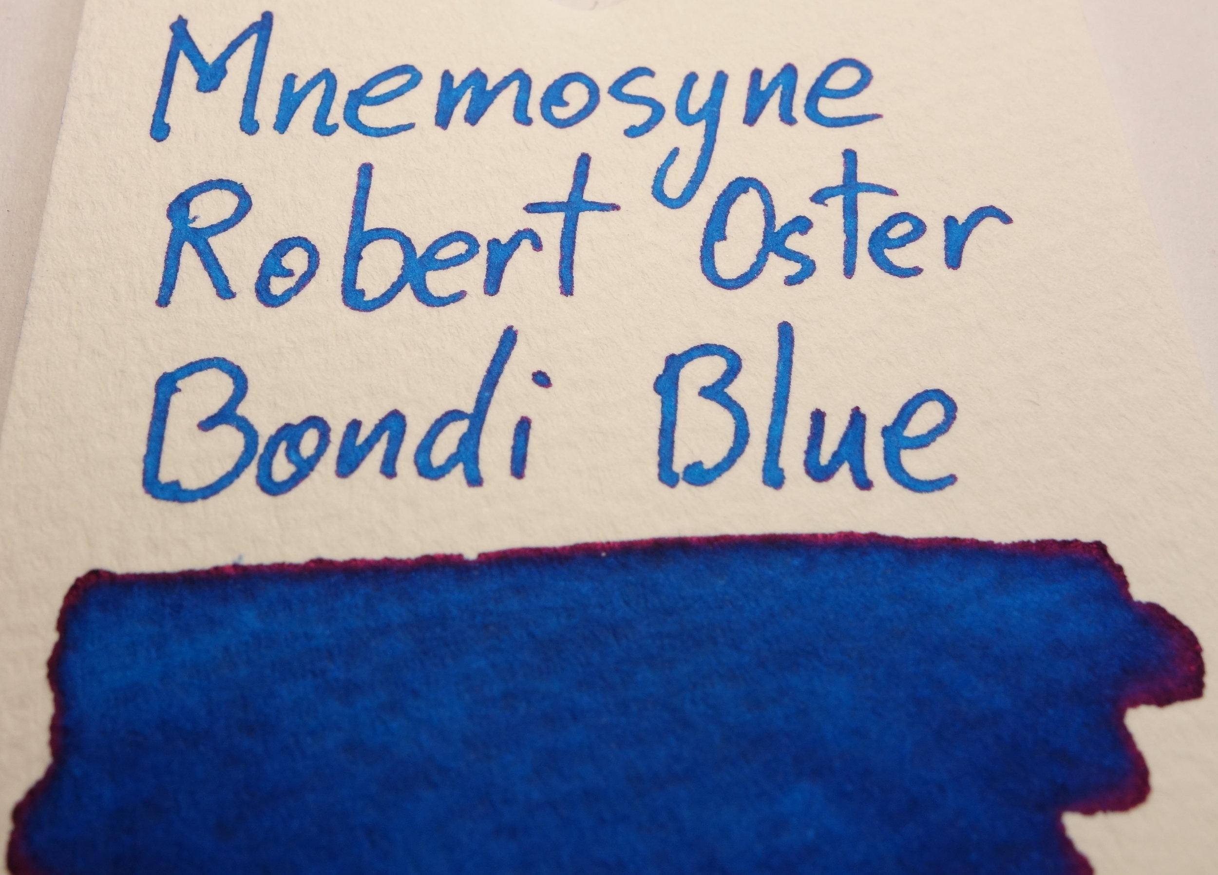 Robert Oster Bondi Blue Sheen Mnemosyne.JPG