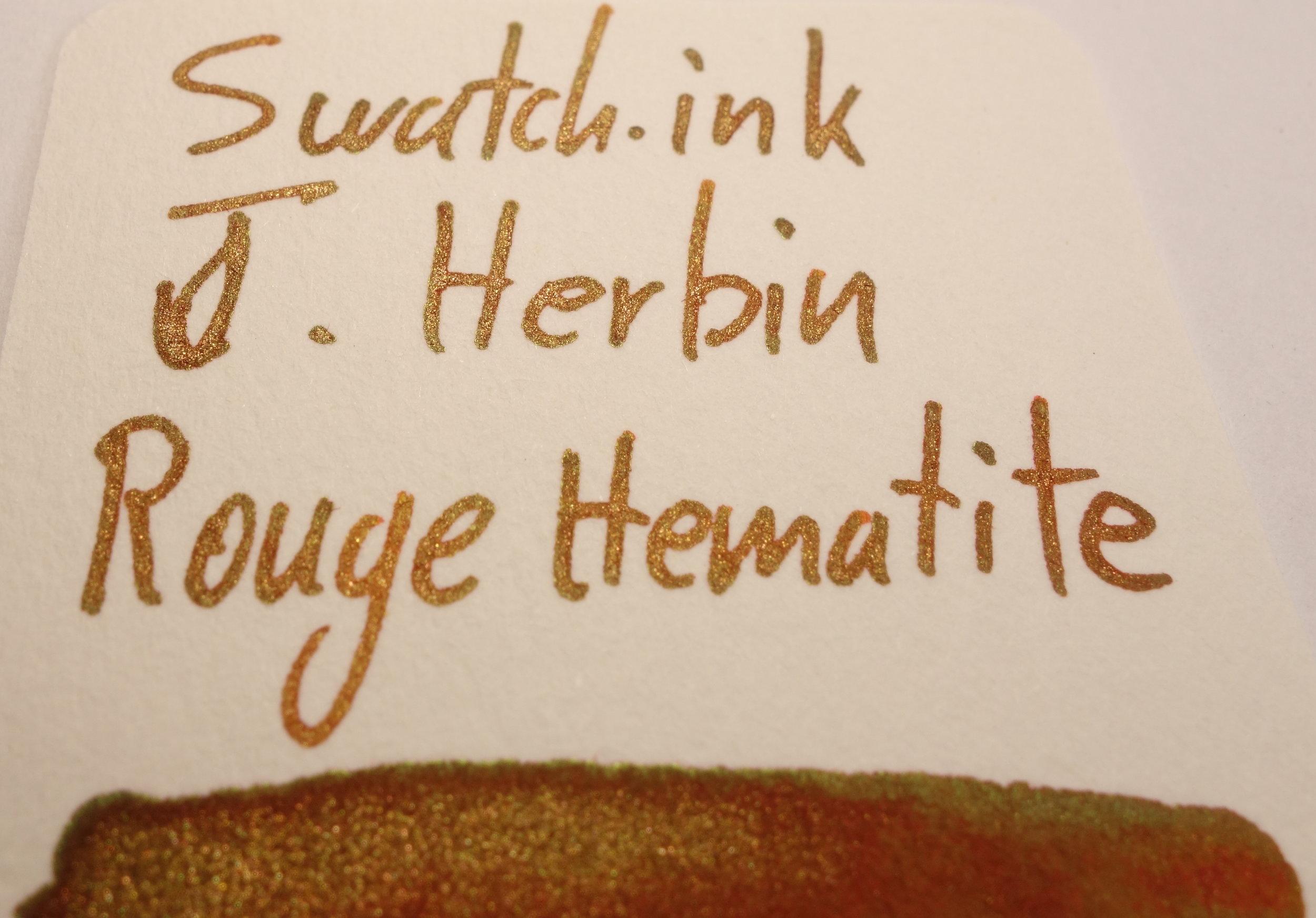J. Herbin Rouge Hematite Sheen Swatch.ink.JPG