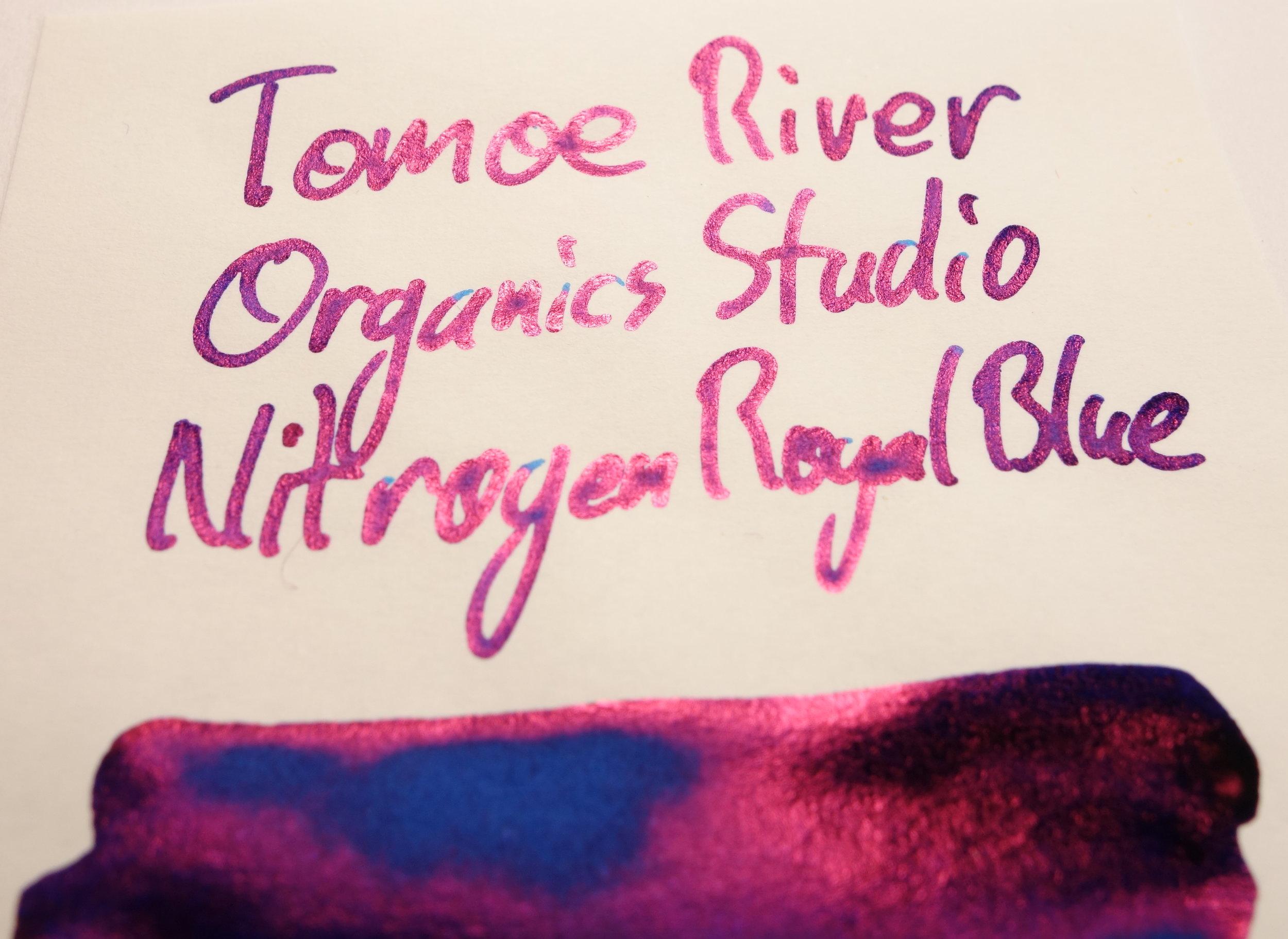 Organics Studio Nitrogen Royal Blue Sheen Tomoe River.JPG